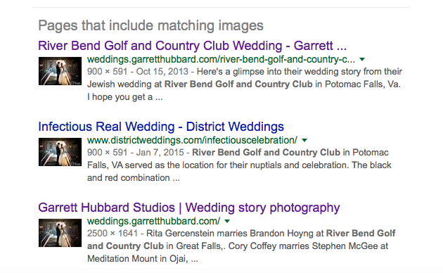 The true owner of the image stolen by Hitchmeweddings.com Screen shot from google images