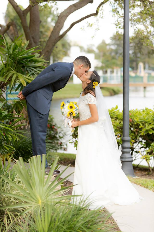 Wedding portrait by Couture Bridal Photography during a Lakeside Terrace Wedding reception