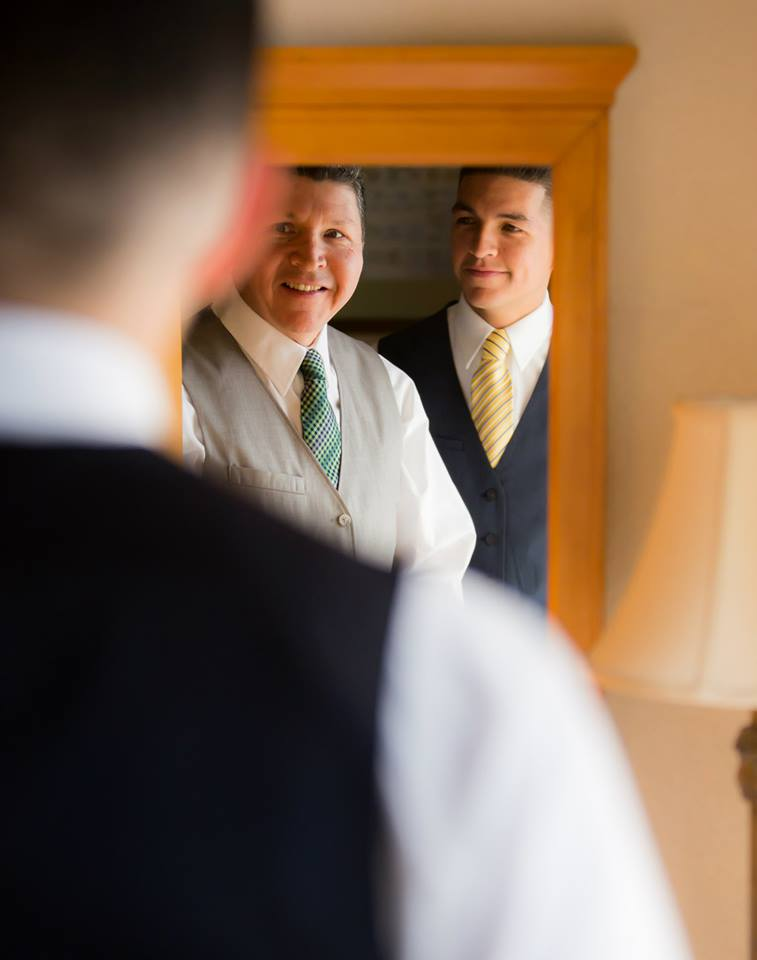 The groom and his father getting ready at the Boca Raton Hilton Suites getting ready for the Lakeside Terrace Wedding day