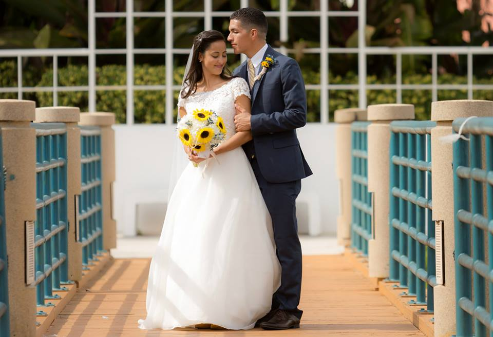 Bridal Portraits by Couture Bridal Photography of the bride and groom before their lakeside Terrace wedding reception