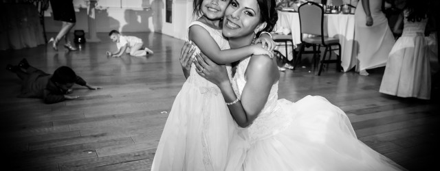Couture Bridal Photography offers affordable Wedding Photography Packages in South Florida and for Destination Weddings. Bride and niece during orlando Florida Wedding