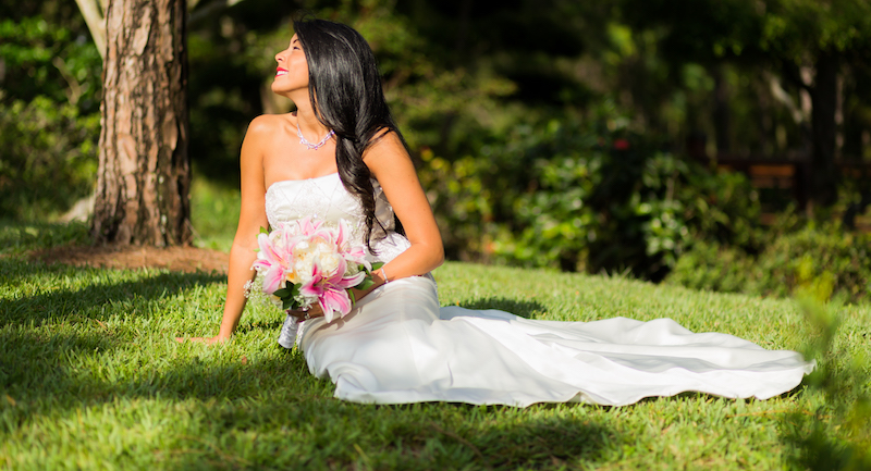 Bridal Portrait at the Morikami Japanese Gardens by Delray Beach Wedding Photographer Couture Bridal Photography Alfredo Valentine