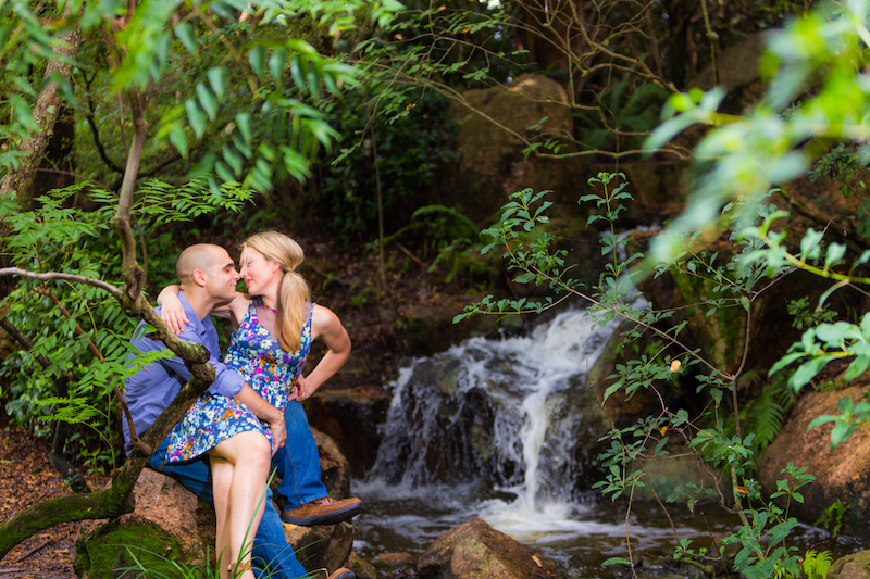 Intimate and artistic engagement photography ideas at Morikami Japanese Gardens by Couture Bridal Photography Delray Beach Wedding Photographers