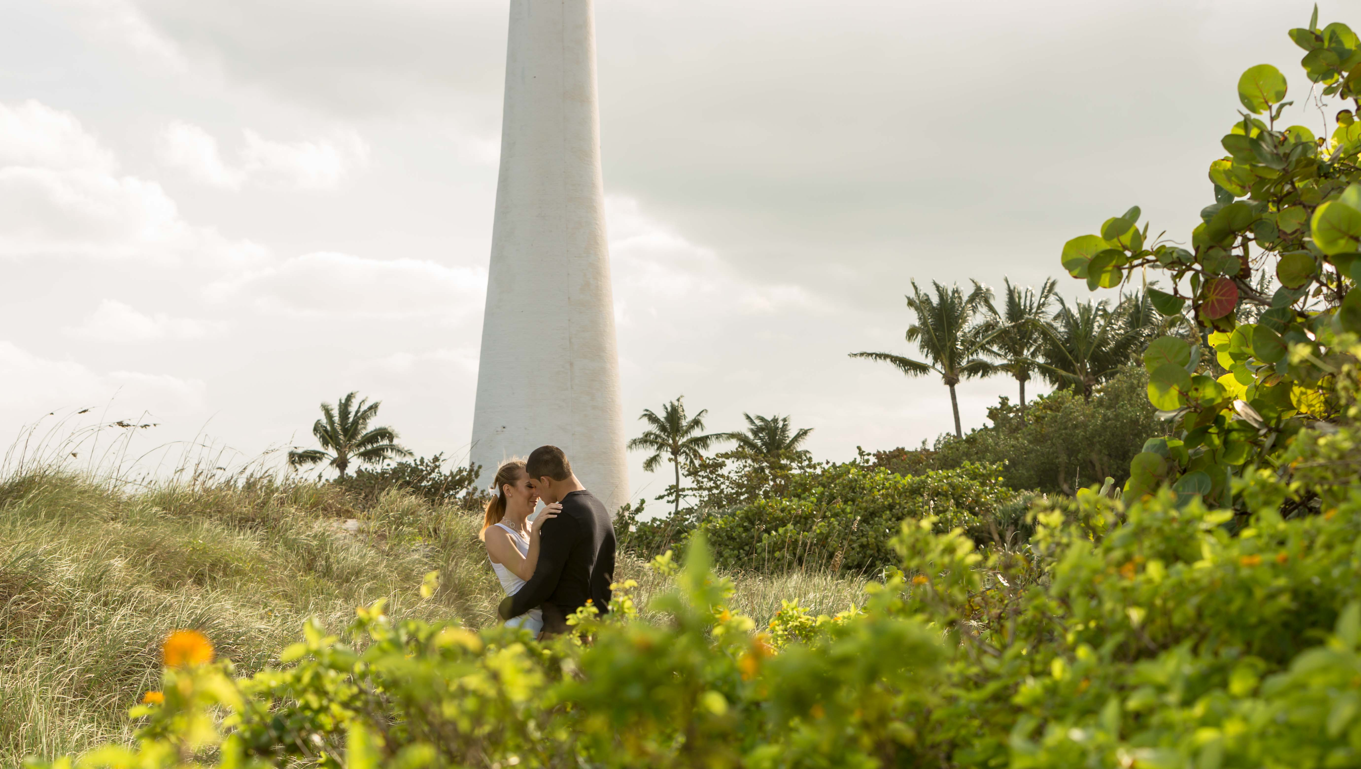 Key Biscayne Engagement session at the Key Biscayne Lighthouse in Key Biscayne Florida