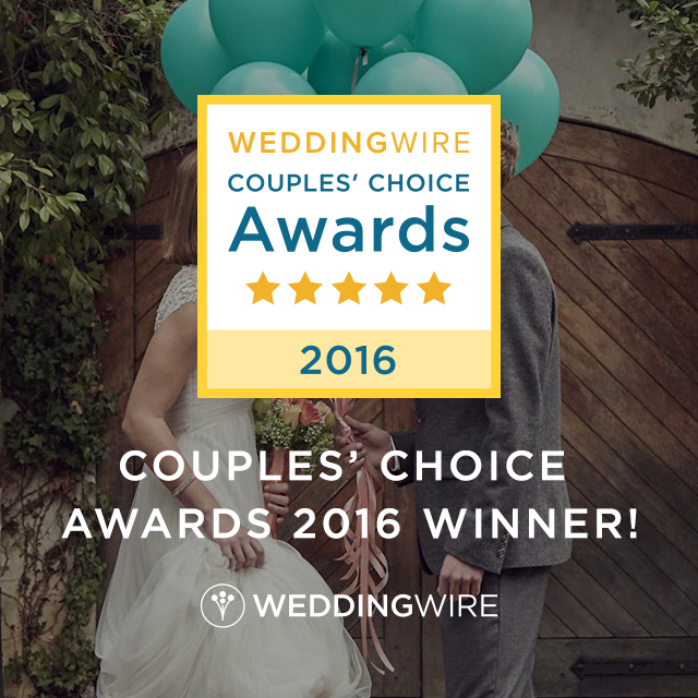 Wedding wire 2016 Couples Choice Photographer, Couture Bridal Photography, A fort Lauderdale Florida Wedding Photographer wins the Weddingwire.com 2016 Couples Choice Award for excellence in photography and service